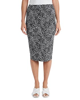 VINCE CAMUTO - Iced Leopard Print Skirt