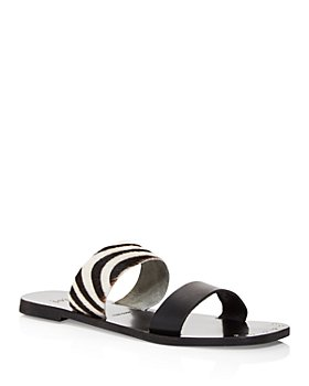 Joie - Women's Bannison Calf Hair Strappy Slide Sandals