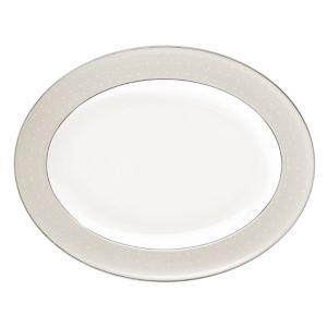 Monique Lhuillier Waterford Etoile Platinum Platter, Medium