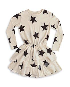 NUNUNU - Girls' Star Print Layered Dress - Big Kid