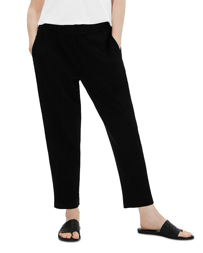 Eileen Fisher - Shirred Waist Ankle Pants