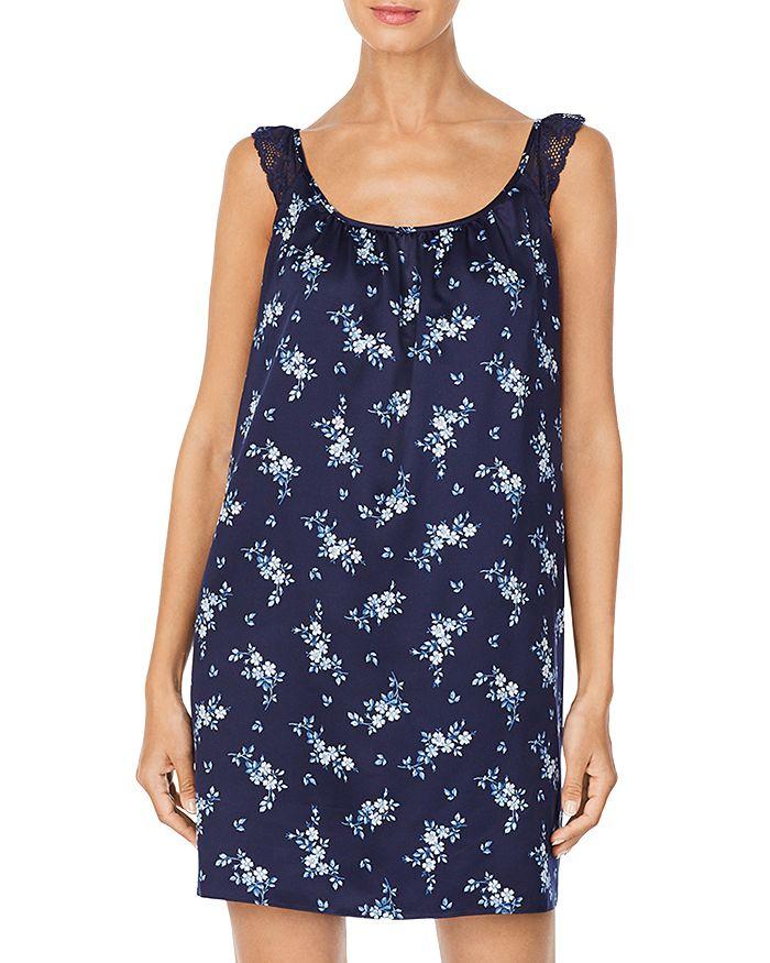 Ralph Lauren - Ruffled Printed Sleeveless Nightgown