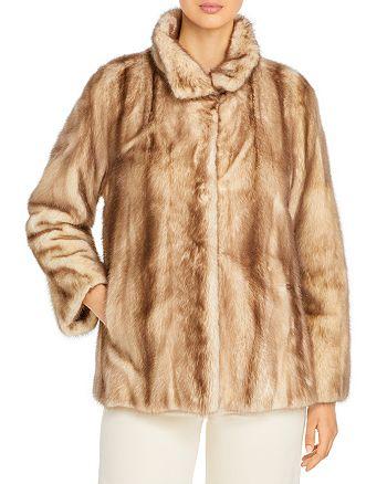 Maximilian Furs - Mink Stand Collar Coat