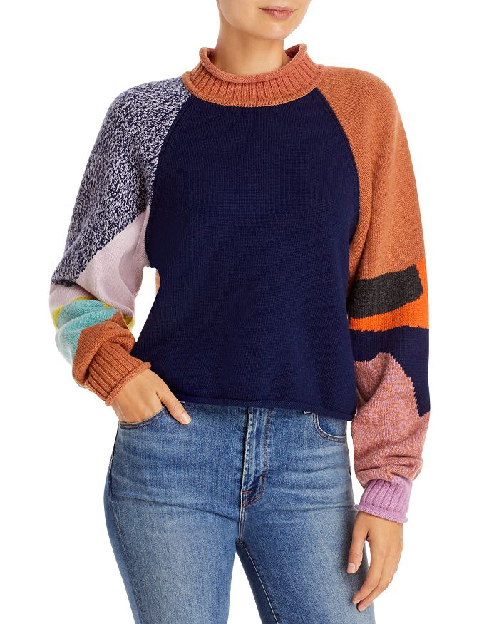 See by Chloé - Intarsia Patchwork Knit Sweater