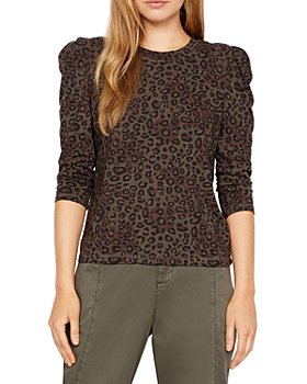 Sanctuary - Leopard Print Puff Sleeve Top