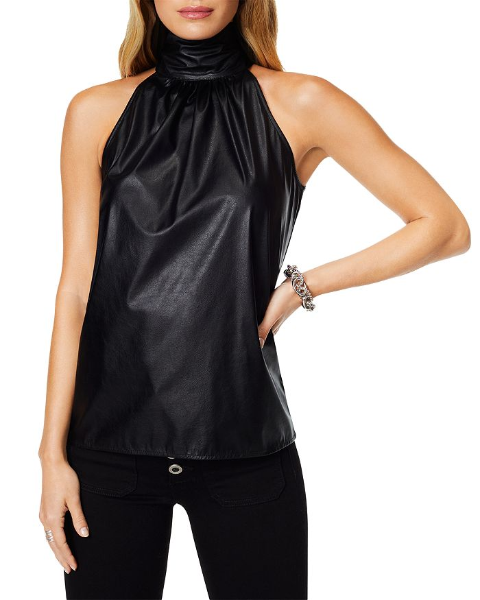 Ramy Brook SLEEVELESS FAUX LEATHER TOP