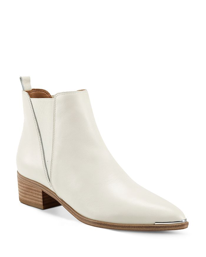 Marc Fisher LTD. - Women's Yale Metallic Leather Pointed Toe Chelsea Booties