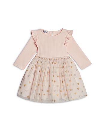 Pippa & Julie - Girls' Ruffled Heart Print Tutu Dress - Little Kid