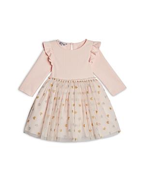 Pippa & Julie Girls\\\' Ruffled Heart Print Tutu Dress - Little Kid-Kids