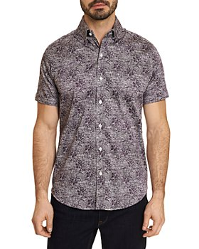 Robert Graham - Knox Cotton Stretch Paisley Sponge Print Tailored Fit Button Down Shirt