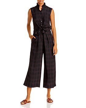 Rebecca Taylor - Plaid Belted Jumpsuit