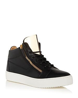 Guiseppe Zanotti Men\\\'s May London Mid Top Sneakers