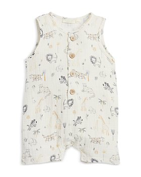 Elegant Baby - Boys' Safari Print Shortall - Baby