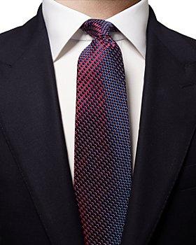 Eton - Silk Geometric Grid Classic Tie