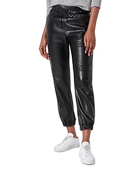 Joie - Faux Leather Jogger Pants