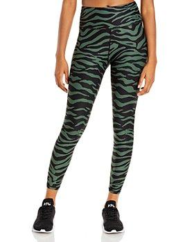 AQUA - Zebra Print Knit Leggings - 100% Exclusive