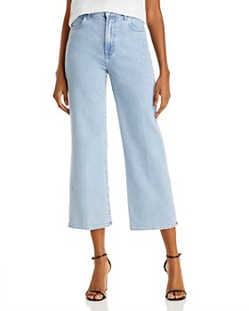 J Brand - Joan Cropped Wide Leg Jeans in Blotter - 100% Exclusive