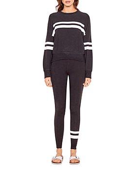 Sundry - Stripes Oversized Sweatshirt & Yoga Pants