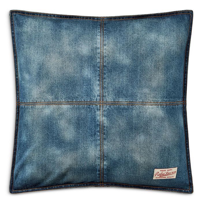 "Ralph Lauren - Eckley Denim Throw Pillow, 20 ""X 20"""