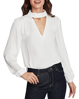 1.STATE - Mock V Neck Blouse