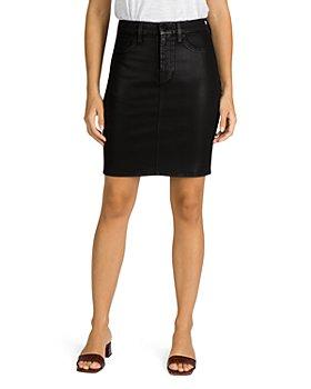 Jen 7 - Coated Denim Pencil Skirt