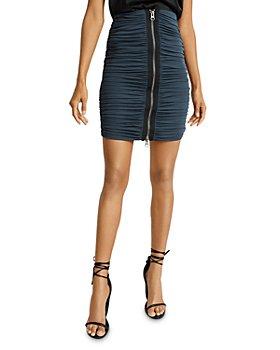REISS - Tamara Ruched Pencil Skirt
