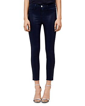 L'AGENCE - Margot High-Rise Coated Skinny Jeans