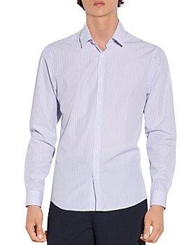 Sandro - Blue Lines Striped Cotton Shirt