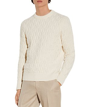 Sandro - Twist Wool Blend Cableknit Sweater