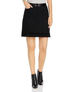 KARL LAGERFELD PARIS - Tweed Front Skirt