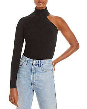 Bardot - Asymmetric Knit Turtleneck