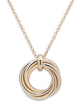 "Ralph Lauren - Knot Circle Adjustable Pendant Necklace, 36"""
