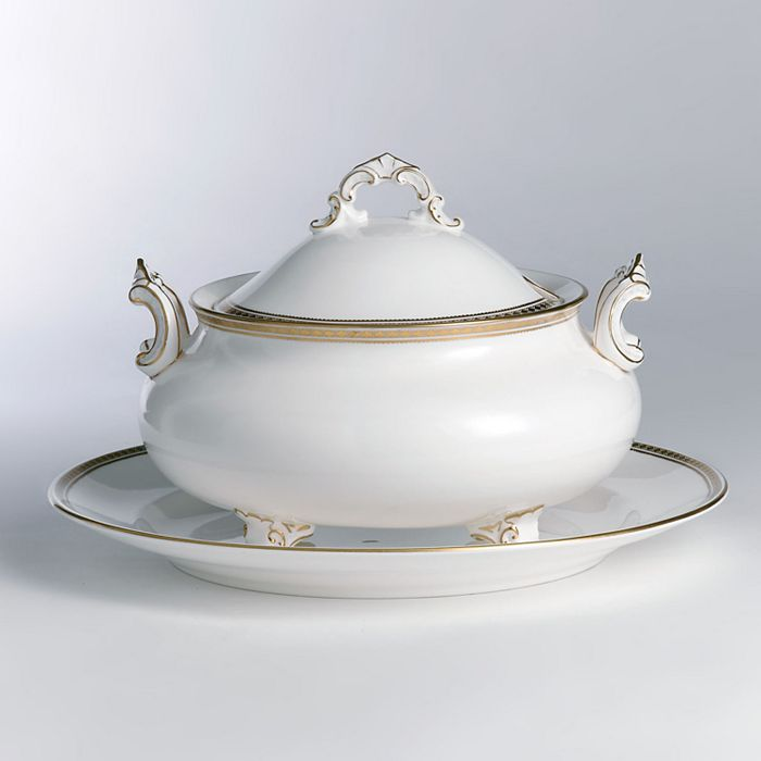 """Royal Crown Derby - """"Carlton Gold"""" Covered Soup Tureen"""