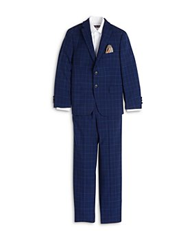 Tallia - Boys' Skinny Fit Plaid Suit - Big Kid
