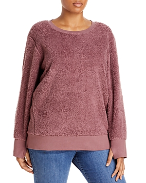 Marc New York Sweatshirts FAUX SHERPA CREWNECK SWEATSHIRT