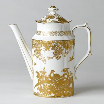 """Royal Crown Derby - """"Gold Aves"""" Coffee Pot"""