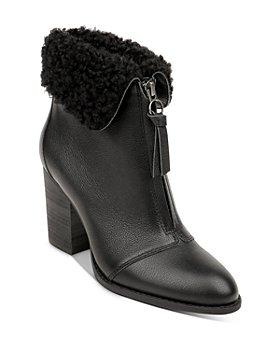 Splendid - Women's Kiley Faux Fur Collar High Heel Booties