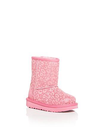 UGG® - Girls' Classic II Glitter Leopard Print Boots - Walker, Toddler