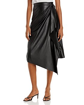 Ramy Brook - Verna Faux Leather Wrap Skirt