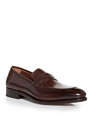 Salvatore Ferragamo Men's Ronald Apron Toe Penny Loafers - Narrow