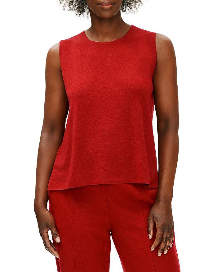 Eileen Fisher - Sleeveless Wool Shell Top