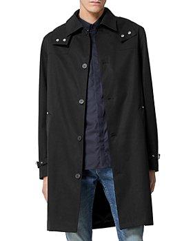 The Kooples - Hooded Cotton Long Coat