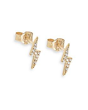AQUA - AQUA Cubic Zirconia Lightening Bolt Stud Earrings