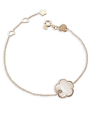 Pasquale Bruni 18k Rose Gold Petit Joli White Agate & Diamond Bracelet