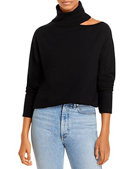 AQUA - Cutout Collarbone Turtleneck Sweater - 100% Exclusive