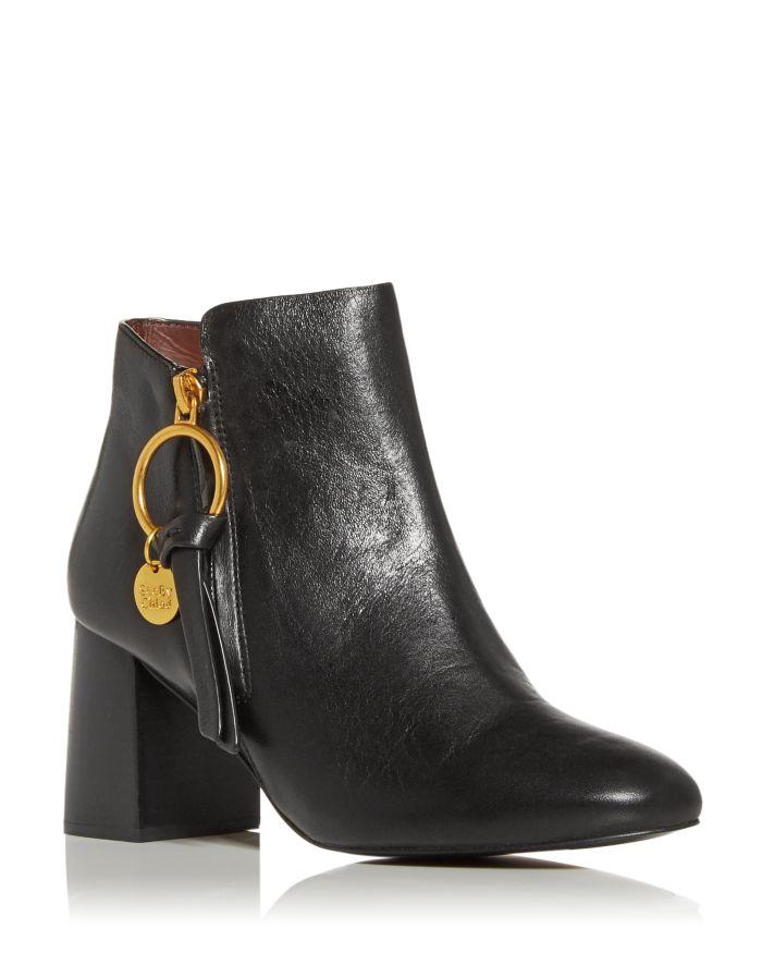 See by Chloé Women's Louise High Block Heel Booties  | Bloomingdale's