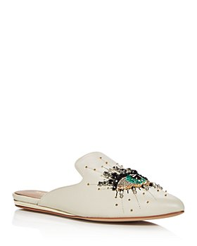 KURT GEIGER LONDON - Women's Olive Embellished Mules