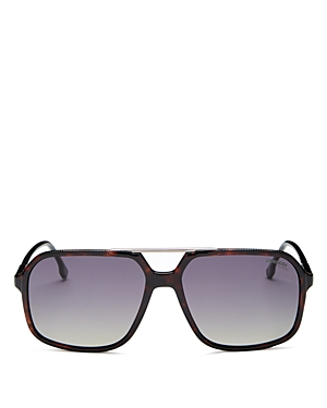 Carrera Unisex Polarized Brow Bar Square Sunglasses, 59mm