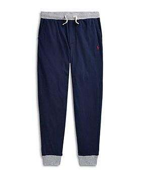 Ralph Lauren - Boys' Contrast Trim Cotton Jogger Pants - Little Kid, Big Kid