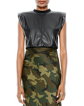 Alice and Olivia - Kendrick Faux Leather Top
